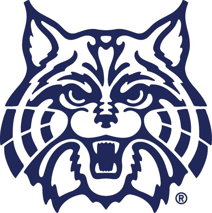 Arizona Wildcats Secondary Logo (1990) - A angry wildcat's head