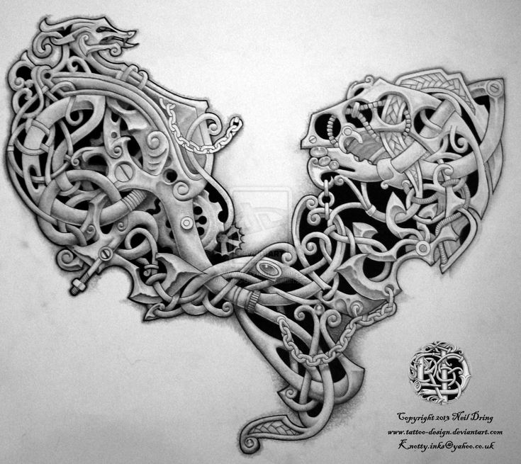23 Scottish Tattoo Designs Ideas: Celtic Steampunk? By Tattoo-Design.deviantart.com On
