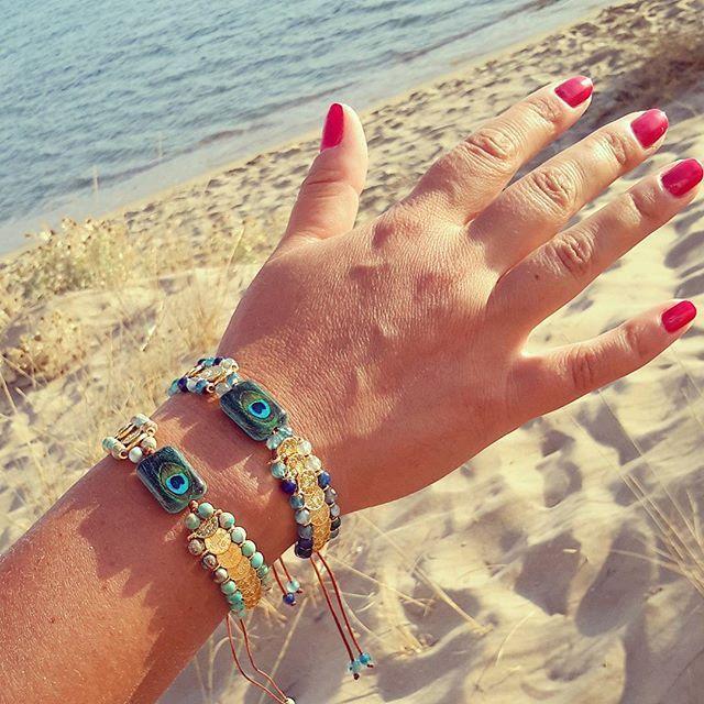 Frolic Stones...boho style bracelets