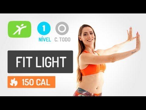 Aula de Baixo Impacto para Afinar a Cintura e Modelar o Corpo - Fit Light #2 - YouTube
