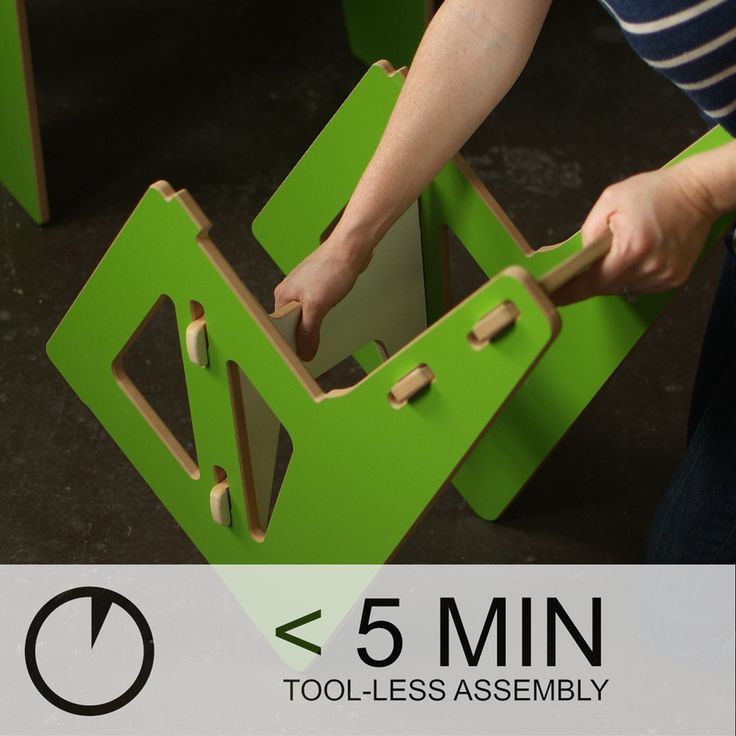 Sprout Modern Kids Table and Chairs, with less than 5 minute tool-less assembly