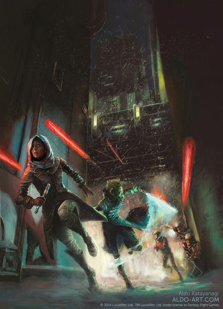 Star Wars rulebook illustration by Aldo Katayanagi   Sci-Fi   2D   CGSociety