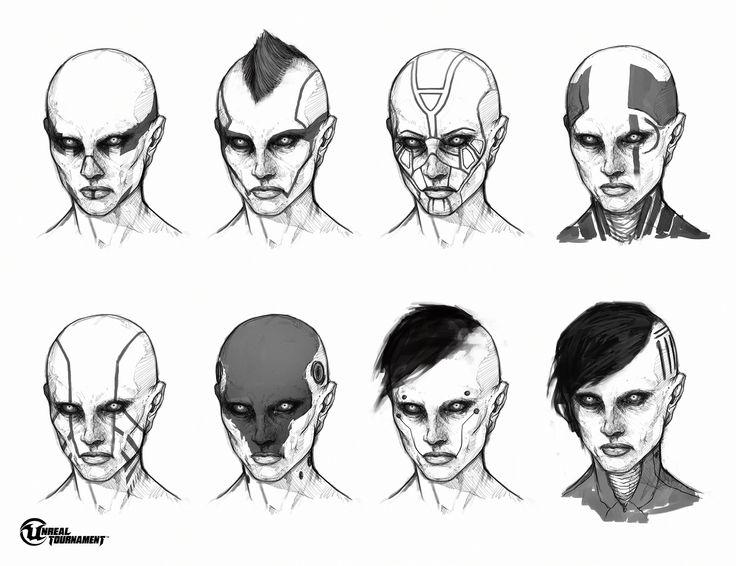 Female Necris Heads