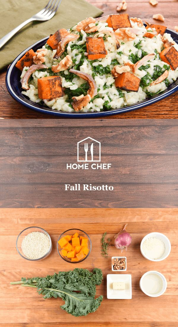 As satisfying, stick-to-your-ribs meals go, you just can't beat risotto. This creamy dish of Italian-style rice is chock-full of autumnal goodness like roasted butternut squash, shallot, and kale. Finished with Parmesan cheese and walnuts, this is a hearty, low-calorie vegetarian dish you can savor.