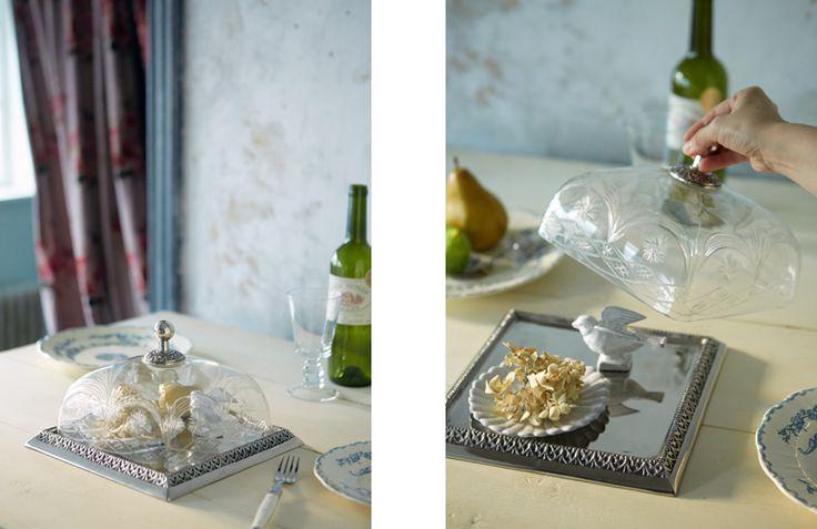 グラスドーム付きケーキトレー/スクエア | 新入荷 | Orne de Feuilles