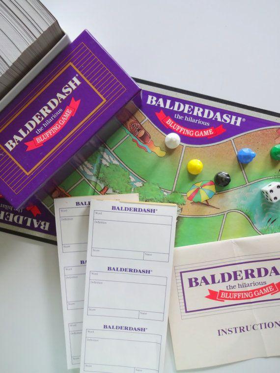 Vintage Balderdash Board Game 1984 by WylieOwlVintage on Etsy, $18.00