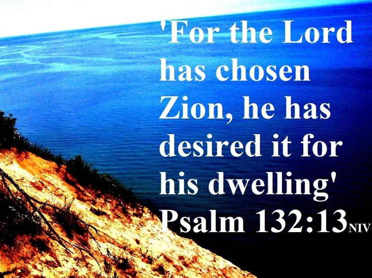 Psalm 132:13 NIV