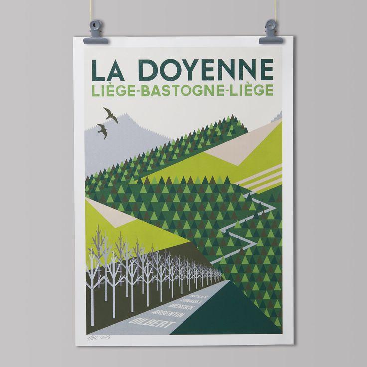 Cycling Art Print 'Liège-Bastogne-Liège' by TheHandmadeCyclist on Etsy https://www.etsy.com/listing/113174794/cycling-art-print-liege-bastogne-liege