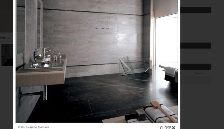 Porcelanosa  Ruggine in Aluminio on wall