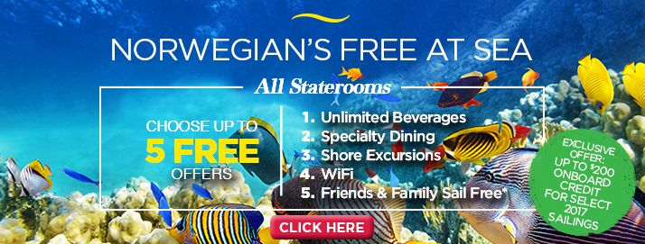 Call me to find out about our Cruise Planners exclusive promotion with Norwegian Cruise Lines.