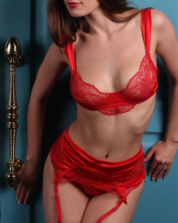 Smoking hot milf teases with her indulging body in red lingerie before she strips off her