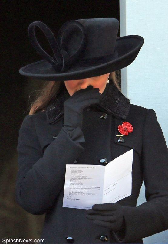 11-11-12 Remembrance Sunday ceremonies in London with Sophie of Wessex.  Diane von Furstenburg coat, Philip Treacy hat.