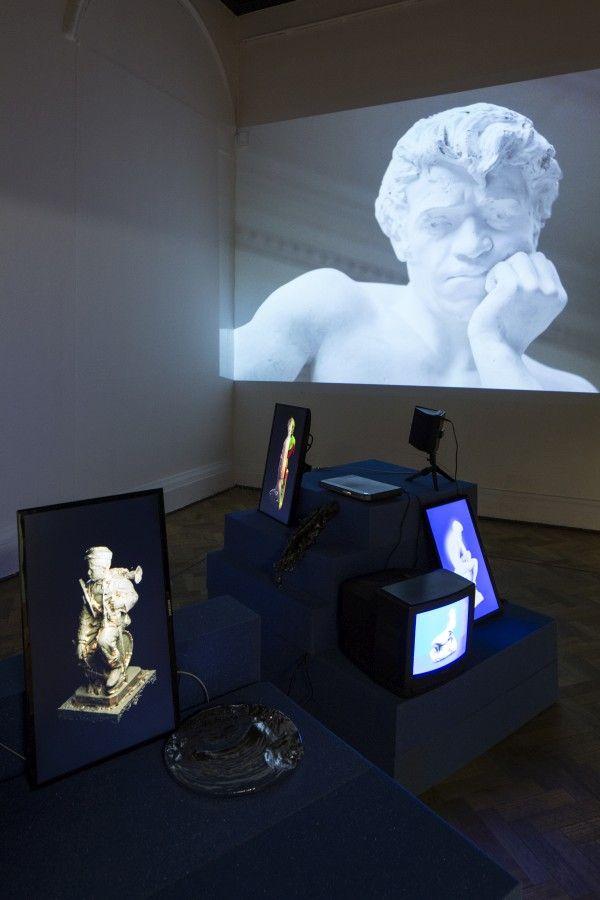 Cristóbal Cea, Arca, 2017, video-instalación. Vista de la obra en la 13° Bienal de Artes Mediales, Museo Nacional de Bellas Artes, Santiago de Chile. Foto: Benjamín Matte