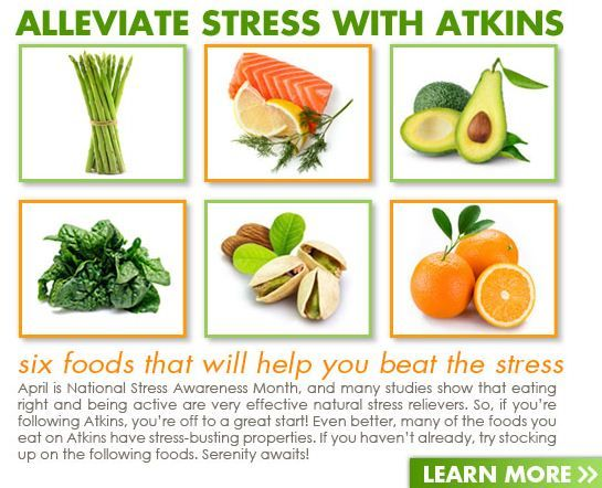 Six foods that help you beat the stress!: Food New, Lowcarb, Carb Lifestyle, Healthy Food, Better Weights, Beats Stress, Weights Loss, Atkins Low, Healthy Living