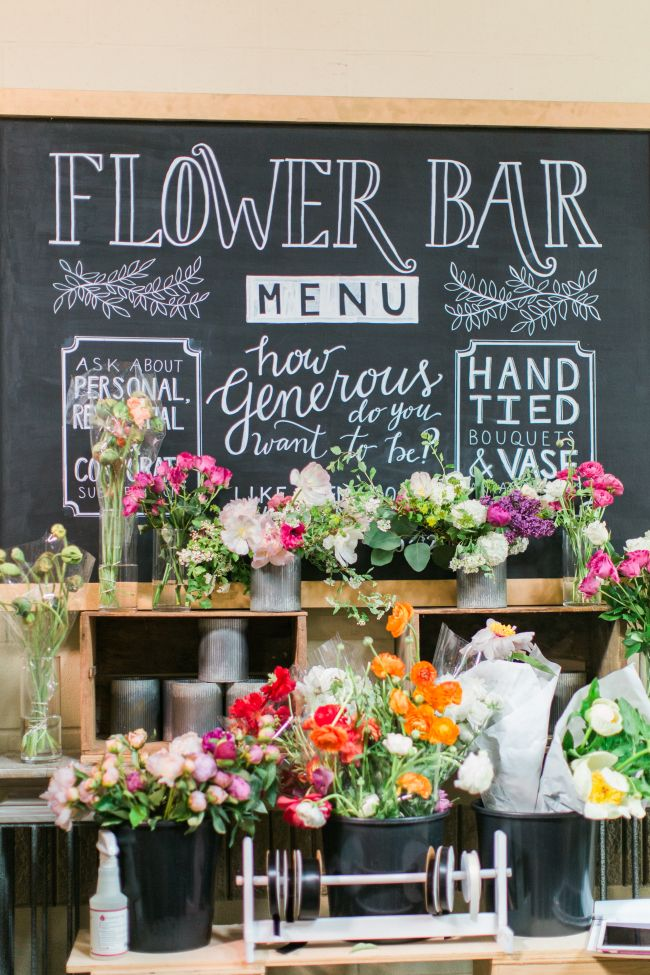 flower display - sell, sell, sell, those flowers!