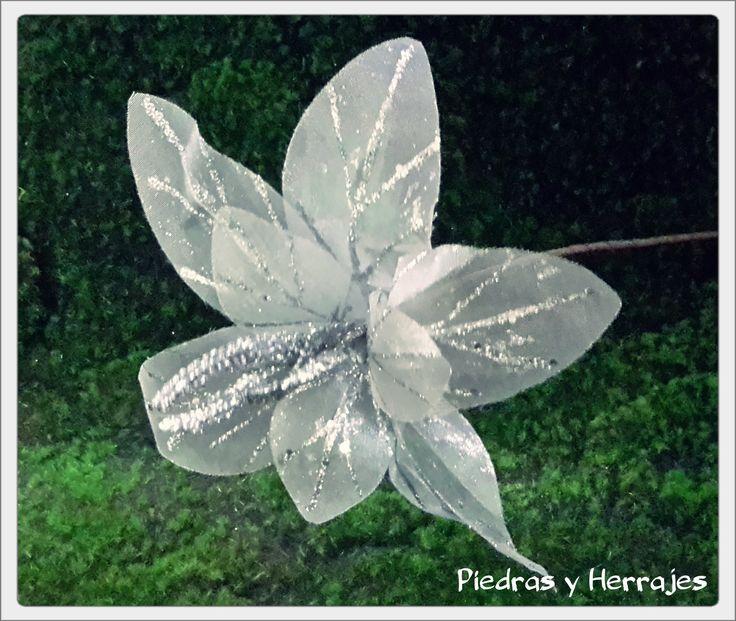 Flor de tull plata  Ref: 485-2085  Tel.511 78 17 Cel.3127994768 Medellín-Colombia