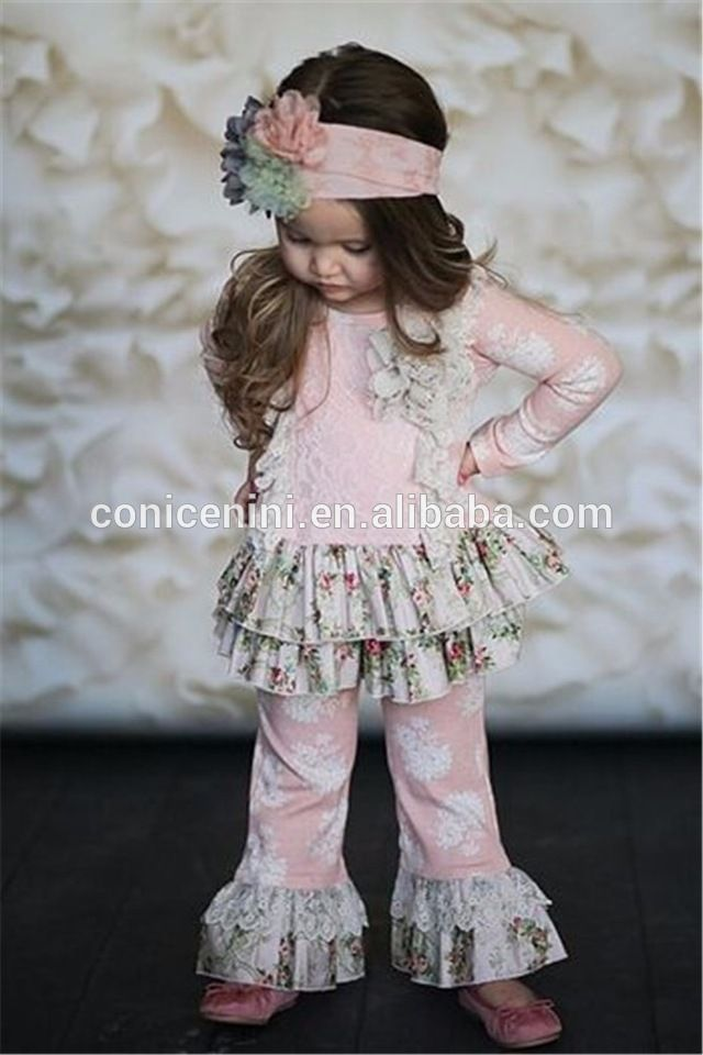 floral giggle moon remake clothes children boutique ruffle clothing
