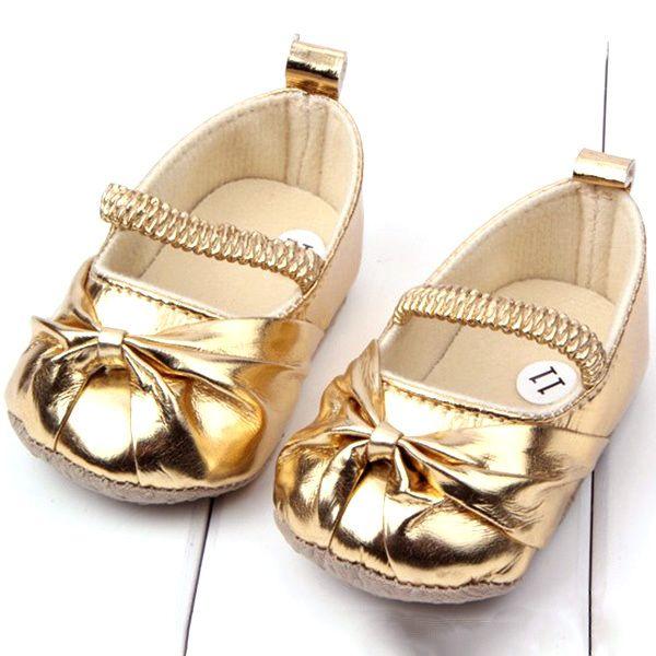 0-12 М Девушка Новорожденный Обувь Резинкой Скольжения На PU Кожаные Ботинки Prewalker