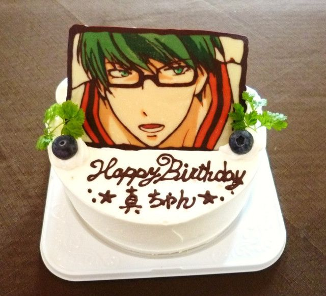 Midorima shintar kuroko no basket cake eats for Anpanman cake decoration