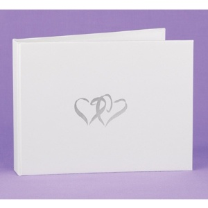 """Linked at the Heart"" White Guest Book"