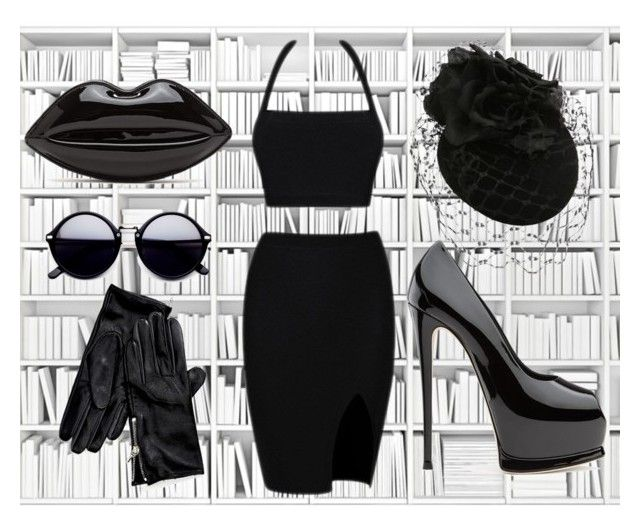 """""""Patent Office"""" by rurustarr on Polyvore featuring Tommy Hilfiger, blackleather, black, Minimalist, blackdress and patent"""