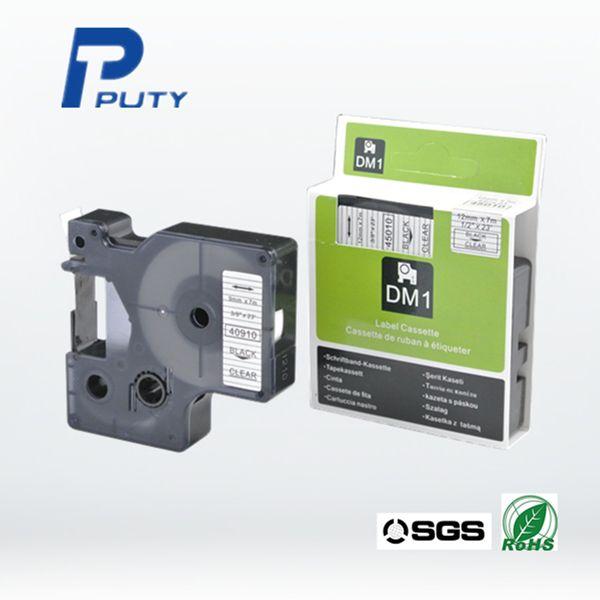 Совместим 1/2  X23  DYMO D1 этикетки 12 мм черный на прозрачном DYMO печать этикеток ленты 45010