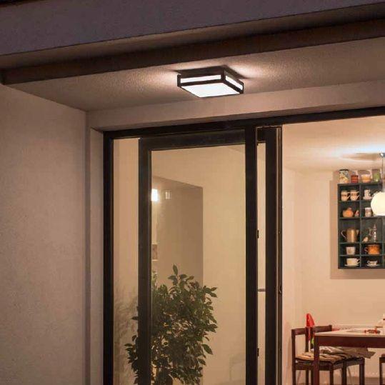 Venkovní nástěnné svítidlo RENDL RED R10359 (PLAKA) Toto nástěnné svítidlo lze použít jako běžné osvětlení exteriéru, např u vchodových dveří, nad balkónovými dveřmi nebo i na dřevěném sloupu pergoly #outdoor, #light, #wall, #front_doors, #style, #rustical #led #rendl #red #svítidlo #osvětlení #světlo
