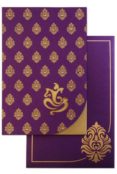 www.regalcards.com – Ultimate in Wedding Cards and Invitations.  Damasks are incredible and when they couple with a laser cut contemporary design of Ganesh ji then the combination becomes irresistible. Now shop this beautiful Invitation card online from Regalcards.