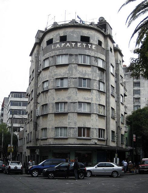 Deco highrise in the Condesa section of Mexico City.