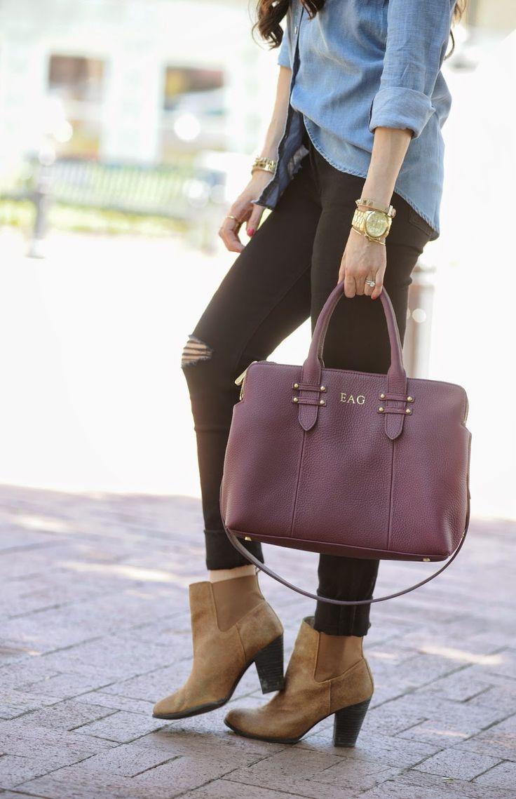 GiGi New York | The Sweetest Thing Fashion Blog | Parker Wine Satchel