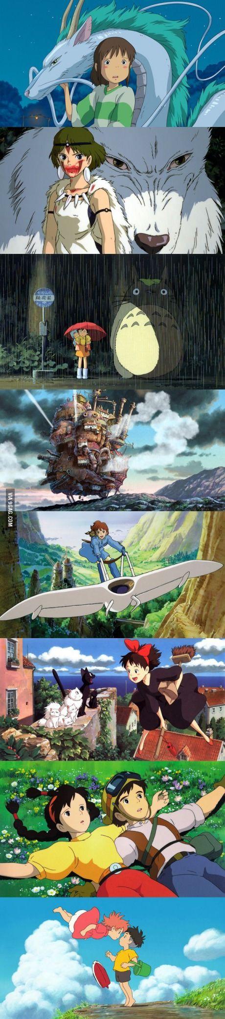 To those posting images about the best anime, I raise you these Miyazaki & Hisaishi masterpieces.