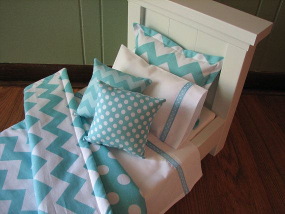 Chevron Bedding Set for American Girl Doll or by MadiGraceDesigns, $27.00