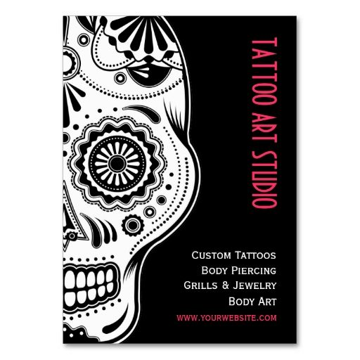 Tattoo Art Studio business card. I love this design! It is available for customization or ready to buy as is. All you need is to add your business info to this template then place the order. It will ship within 24 hours. Just click the image to make your own!