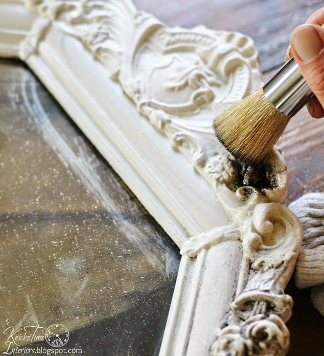How To Accent Details With Antiquing Powder Paint