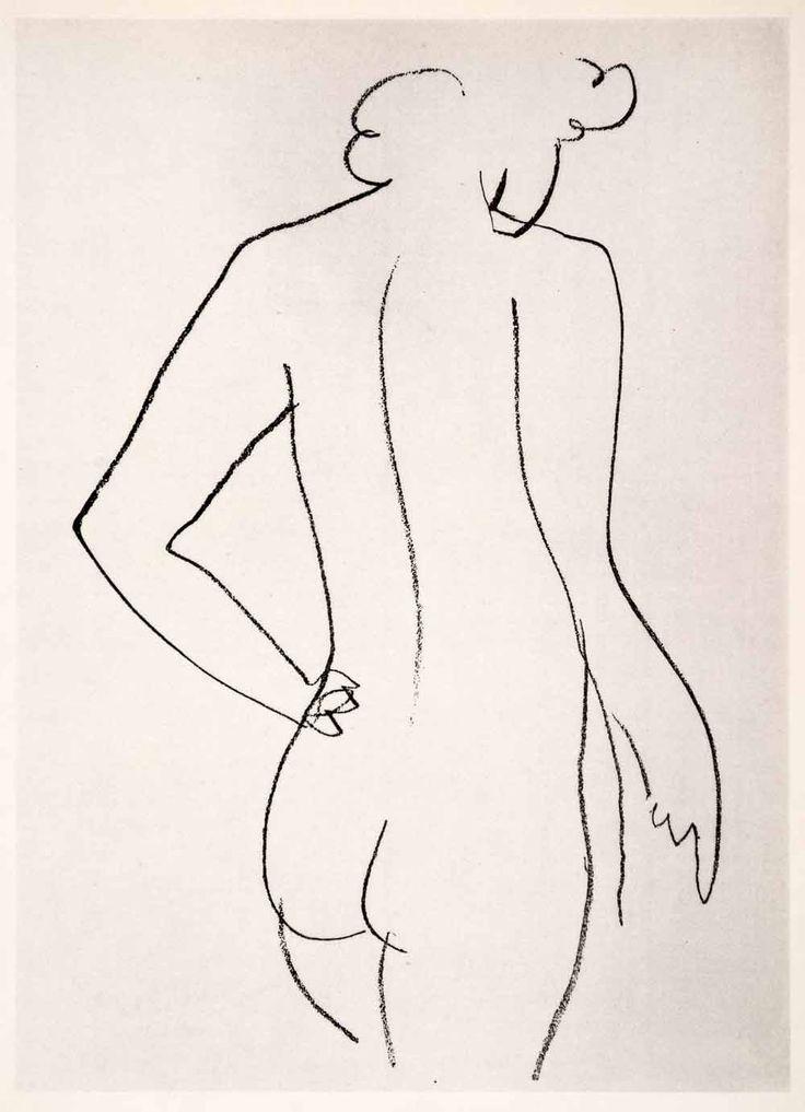 1969 Photolithograph Henri Matisse Pencil Sketch Backside -8320