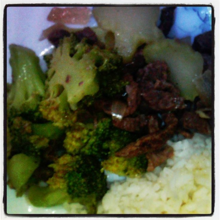 oyster stirred beef strips & brocolli