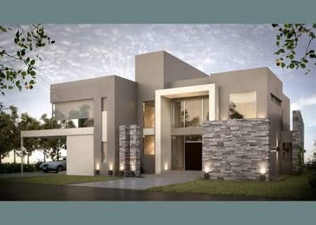 fachadas de piedra modernas - Buscar con Google #casasmodernasfachadasde #fachadasdecasasconpiedra