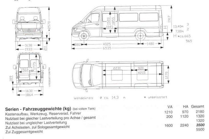 Volkswagen European Delivery >> Mercedes sprinter masse hhe #7 | test | Pinterest | Mercedes sprinter