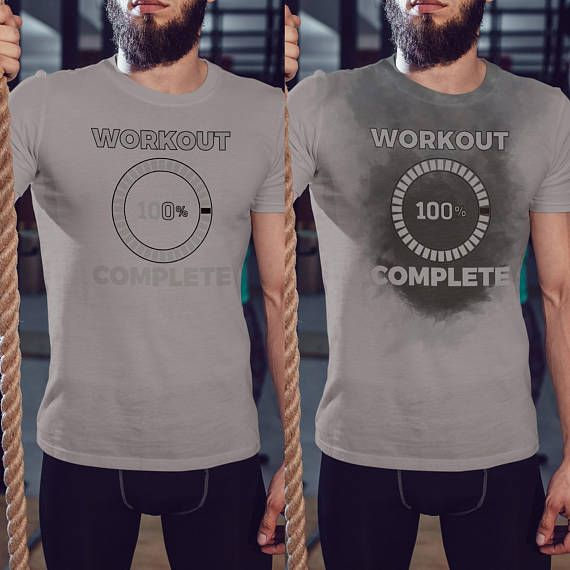 5380c3bc0 Workout 100% Done - Sweat Workout Funny Shirt For Men's, Gym Shirt, Workout  or Running Tee, Fitness T-Shirt, New Years Resolution Tee