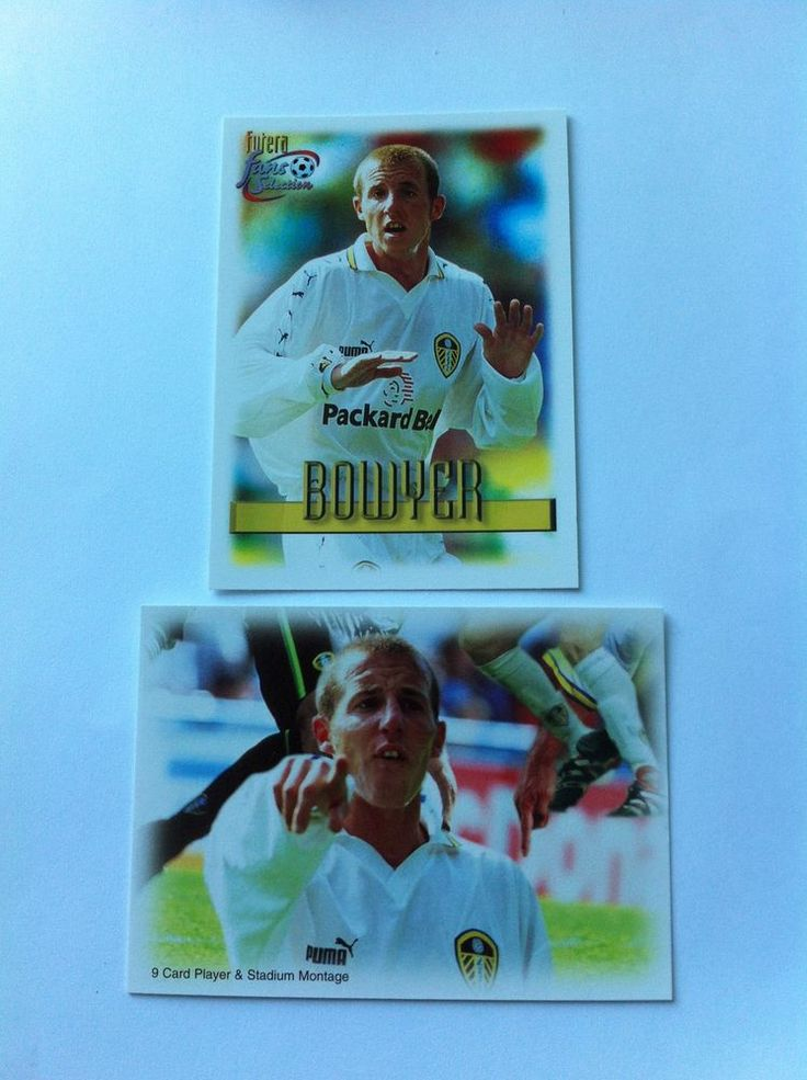 Futera Fans Selection Leeds 81 84 Lee Bowyer 1999 Trading Cards