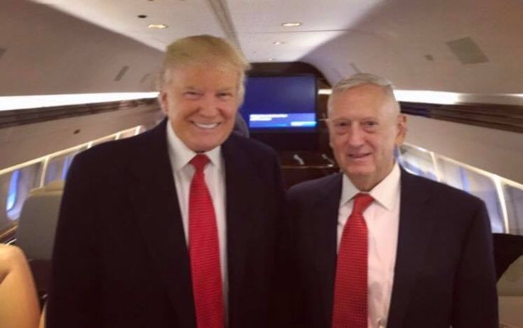 Donald Trump & General James 'Mad Dog' Mattis on their way to the rally in Fayetteville, North Carolina #ThankYouTour2016