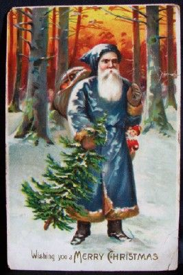 Old Time Santa Claus Painting Of Father Christmas