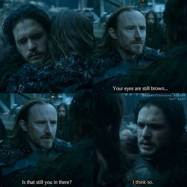 That hug was such an intense moment! --- Jon spotted Edd and went right to him. He was his friend from the very beginning. A loyal friend. And both were happy to see each other again. --- #jonsnow #kitharington #eddisontollett #bencrompton #gameofthrones