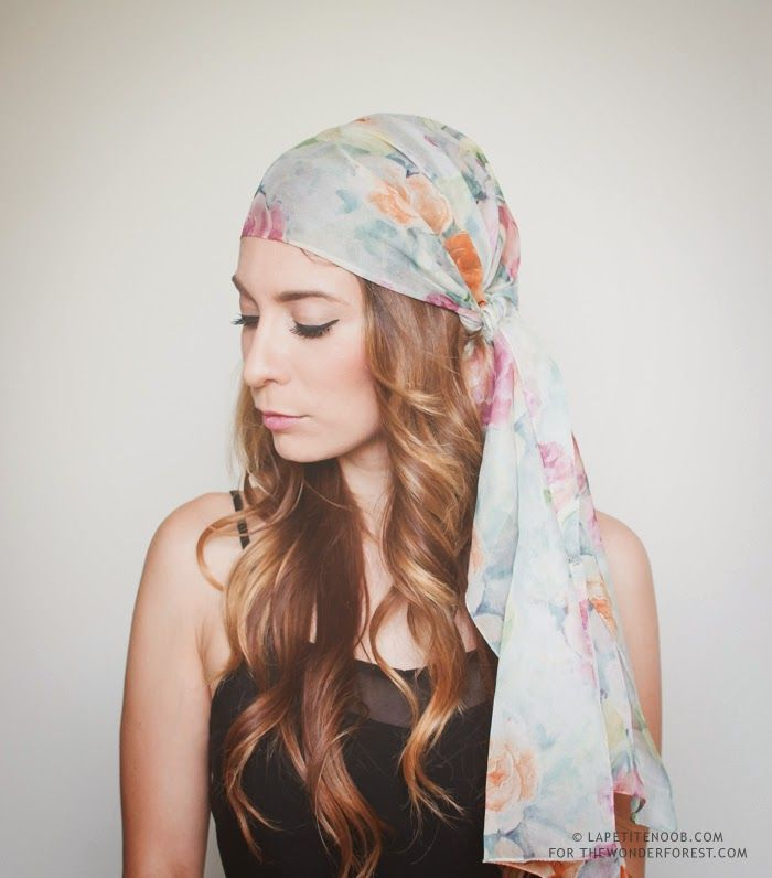 How To Tie a Head Scarf for the Summer: 3 Ways! | Wonder Forest: Design Your Life.