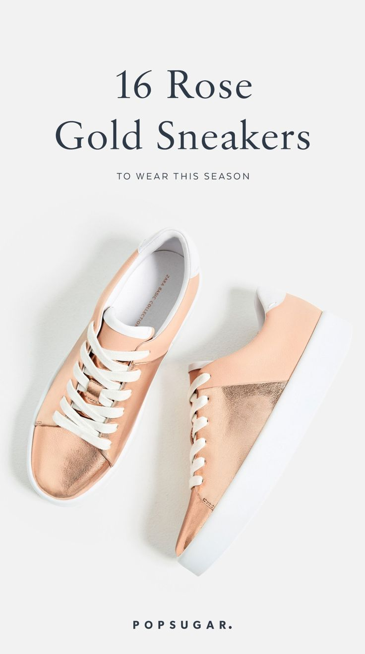 16 rose gold sneakers you have ti invest in this season