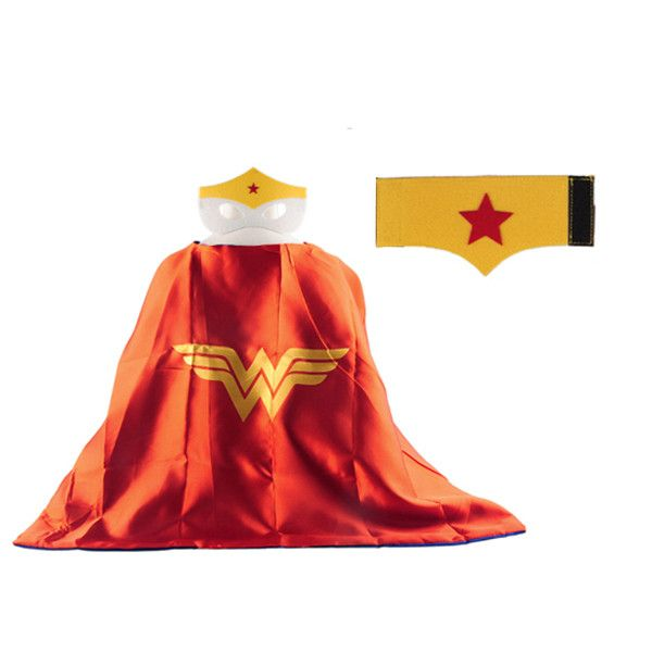 1 Cape +1 Mask+1pc wristband spiderman superman sets boys kids superhero capes costume superhero suits for kids gift birthday