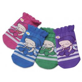 Farlin Baby Ankle Socks 403C-Pink,are knitted out of superior soft cotton for baby skin.The striped baby socks fit snugly around the feet to keep them protected.