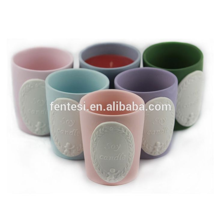 Hot sale pillar shape ceramic candle jar