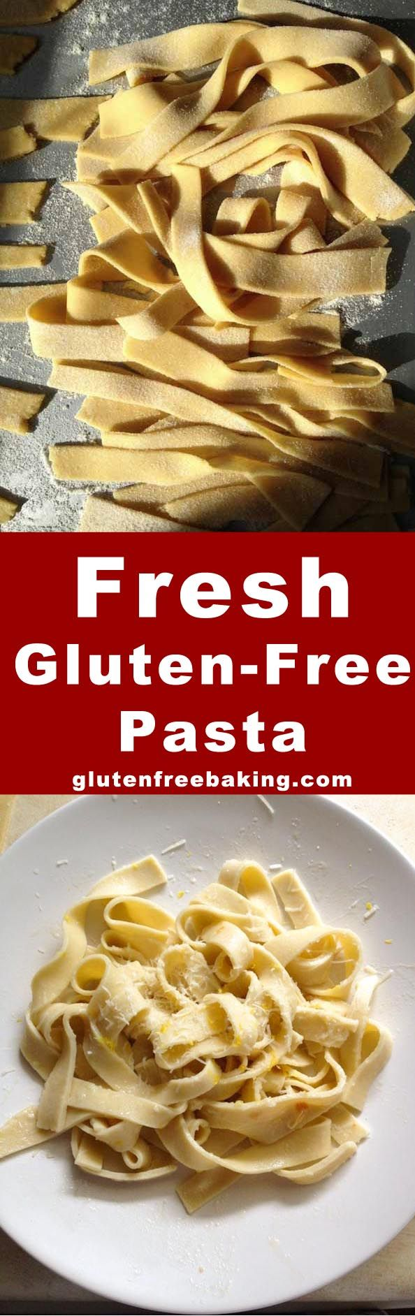 It's easy to make fresh gluten-free pasta. You only need 4 ingredients and 25 minutes.