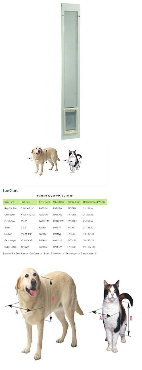 Doors And Flaps 116379: Aluminum Fast Fit Pet Cat Dog Door For Sliding Deck  Patio